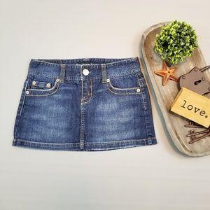 American Eagle dark wash denim mini skirt